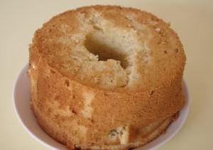 作り慣れた頃のシフォンケーキの失敗。