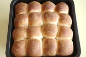 ちぎりパン(ストーレート法で失敗→あとからイースト添加)